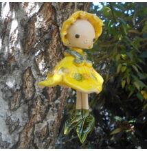Kerámia  tündér - sárga
