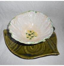 Müzlis tál - fehér virágos (alátét nélkül)