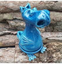 Füstölő sárkány - füstölőtartó, kék