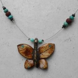 Kerámia nyaklánc - pillangós 5.