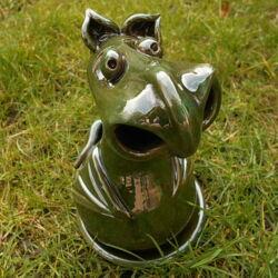 Füstölő sárkány - füstölőtartó, sötétzöld