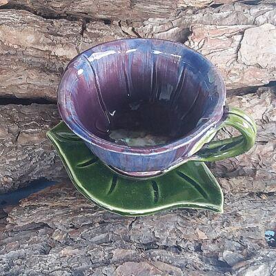 Lila  kávéscsésze (alátét nélkül)
