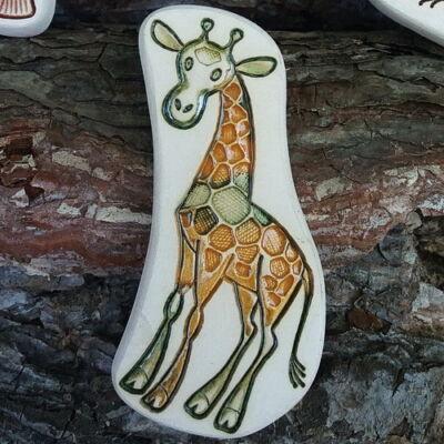 Kerámia hűtőmágnes - zsiráfos 2.