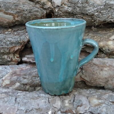 Kávés bögre - haragos tenger kék 1.