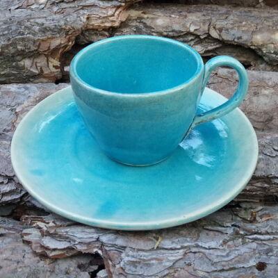 Kávés bögre - türkízkék