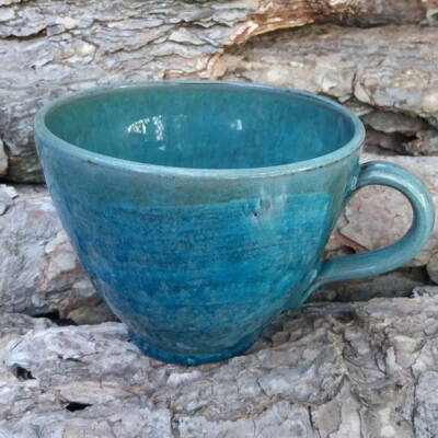 Teás bögre - haragos tenger kék