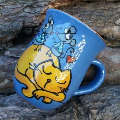 Kék cicás-egeres bögre 3.