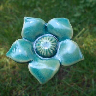 Kék kerámia virág 3.
