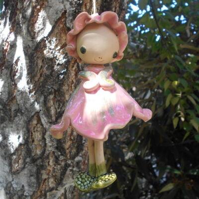 Kerámia  tündér -  rózsaszín
