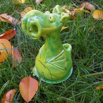 Füstölő sárkány - füstölőtartó, világoszöld