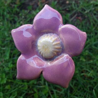 Lila  kerámia virág 2.