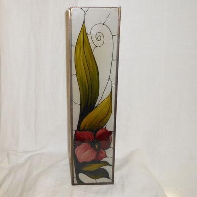 Bordó virágos nagy váza