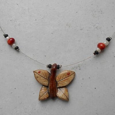 Kerámia nyaklánc - pillangós 4.