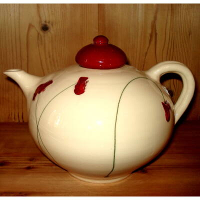 Pipacsos teáskanna - nagy