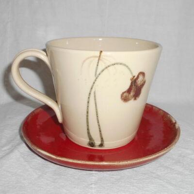 Pipacsos teáscsésze alátéttel