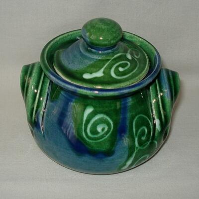Zöldes-kék méztartó