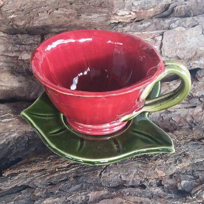 Bordó  kávéscsésze (alátét nélkül)