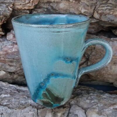 Kávés bögre - haragos tenger kék 2.