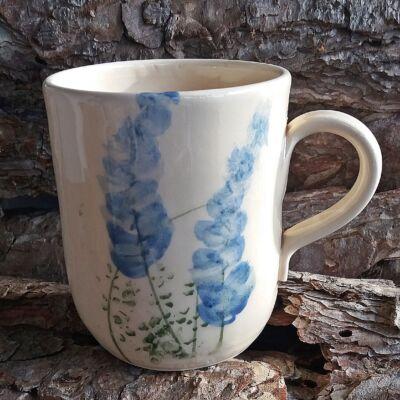 Bögre - kék virágos