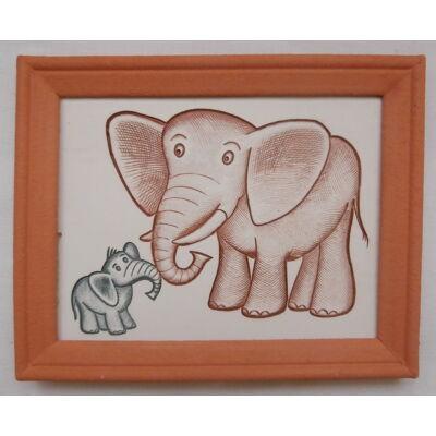 Elefántos kerámia falikép