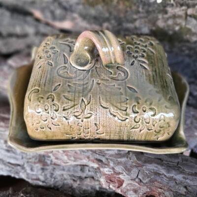 Vajtartó -zöld csipkés