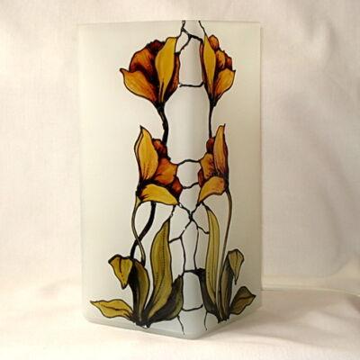 Sárga virágos lámpa 2.
